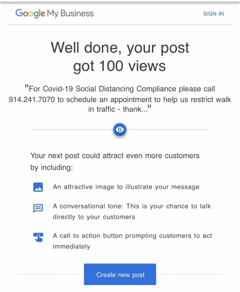 100 Post Views