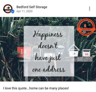 Bedford Self Storage Post
