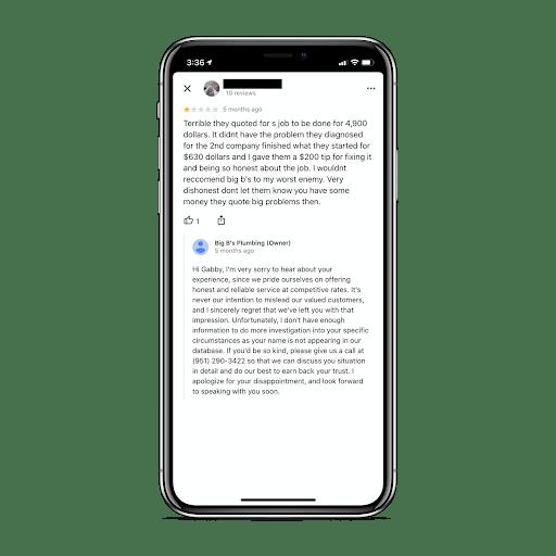 custom response