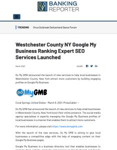 Banking Reporter DoMyGMB Press Release