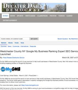 Decatur Daily Democrat DoMyGMB Press Release