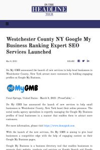 In The Headline Tech DoMyGMB Press Release