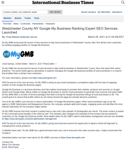 International Business Times DoMyGMB Press Release