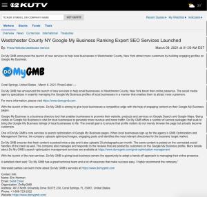 KUTV DoMyGMB Press Release