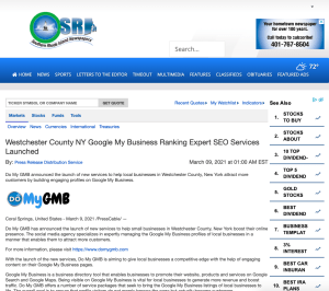 Southern Rhode Island Newspapers DoMyGMB Press Release